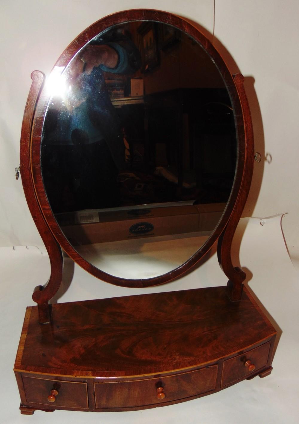 georgian mahogany toilet mirror circa 1795