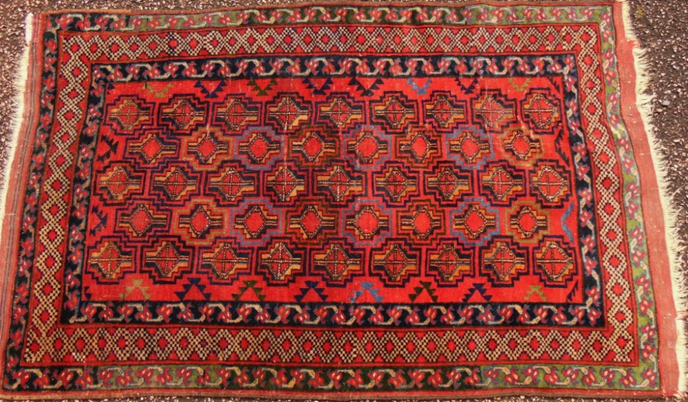 antique esari turkoman rug circa 1910