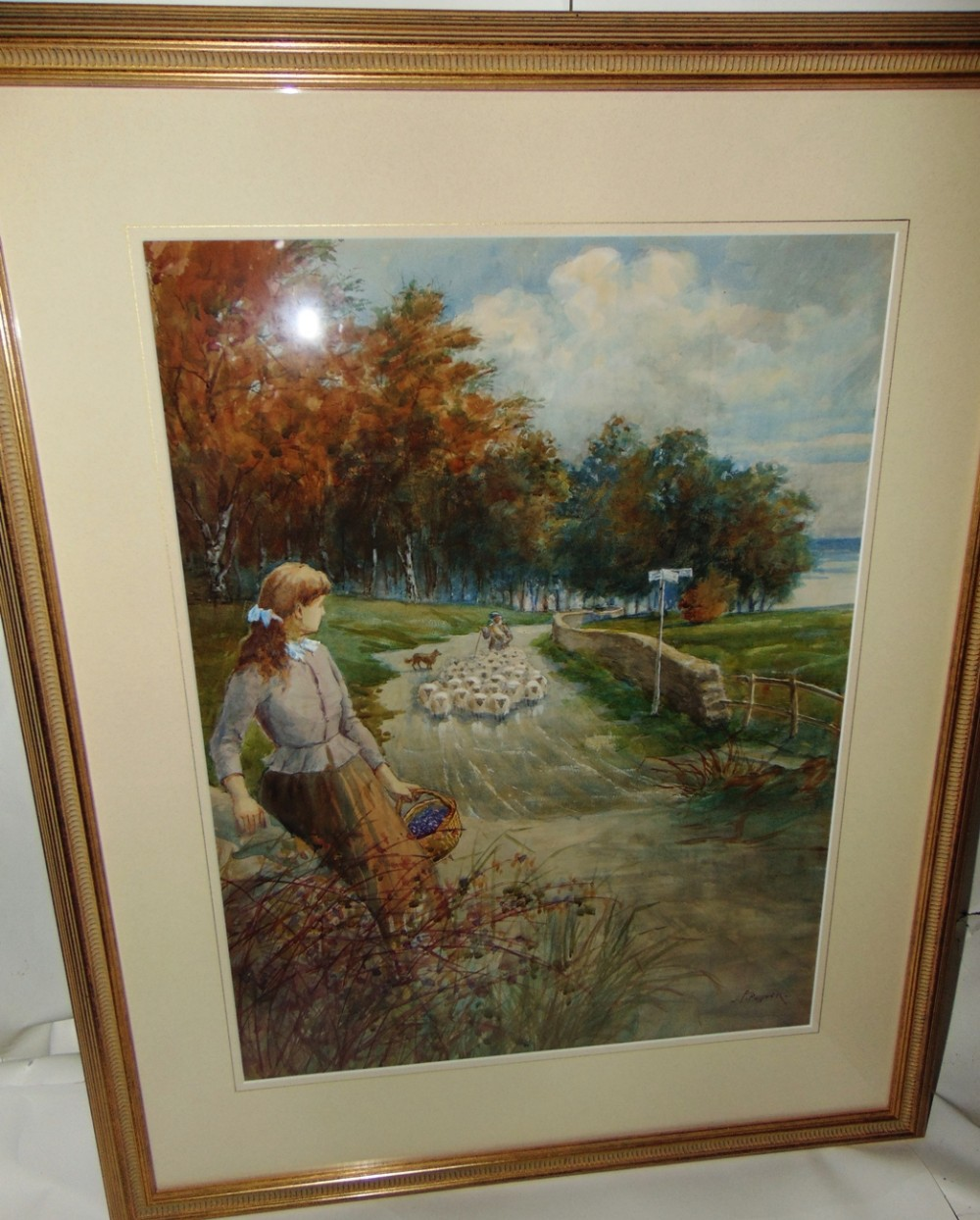 watercolour rural scene by jpollock circa 1915
