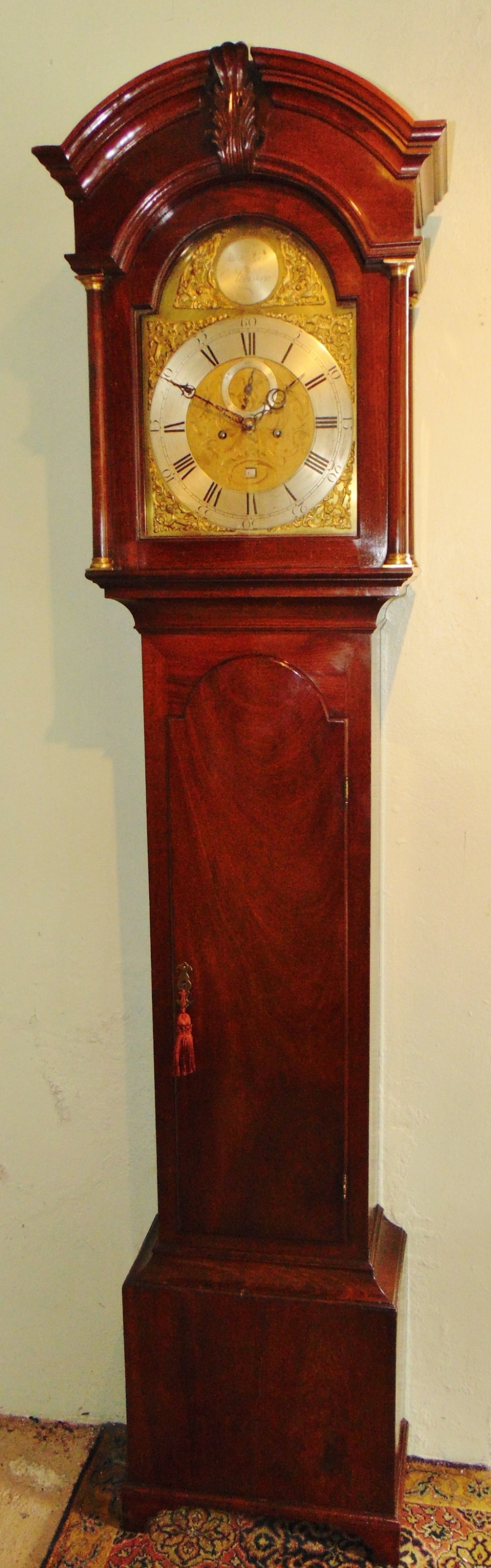 scotissh georgian mahogany longcase clock circa 1770