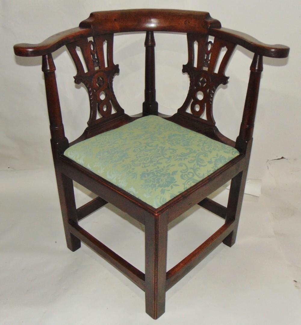 georgian walnut corner chair circa 1760