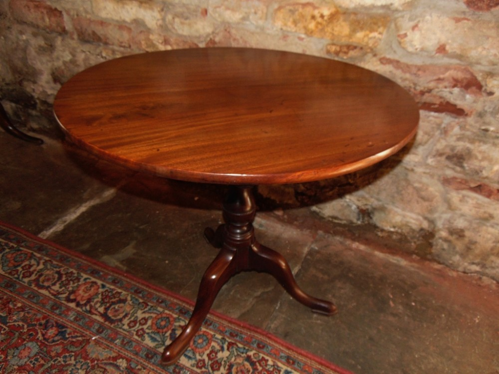 georgian cuban mahogany tripod table circa 1765