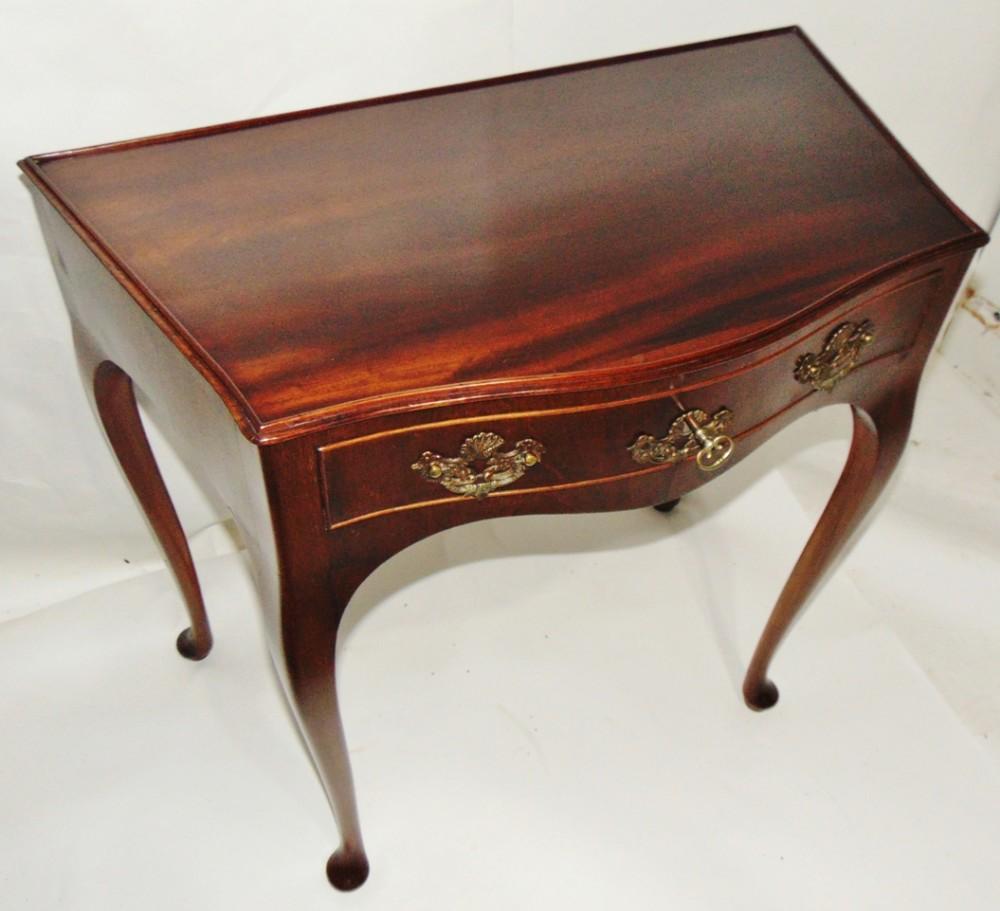 dutch mahogany serpentine side table circa 1770