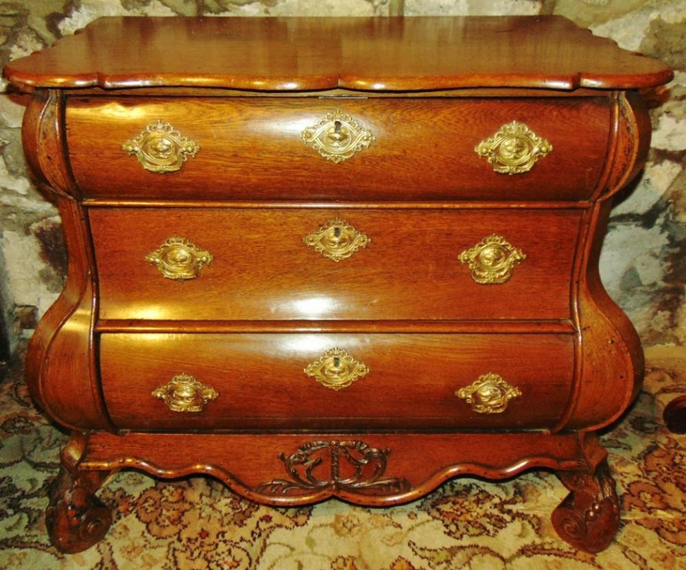 dutch oak bombe chest circa 1760
