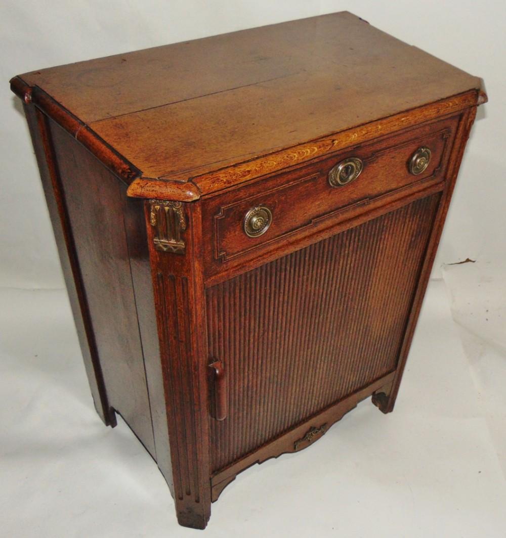 small dutch oak side cabinet circa 1780