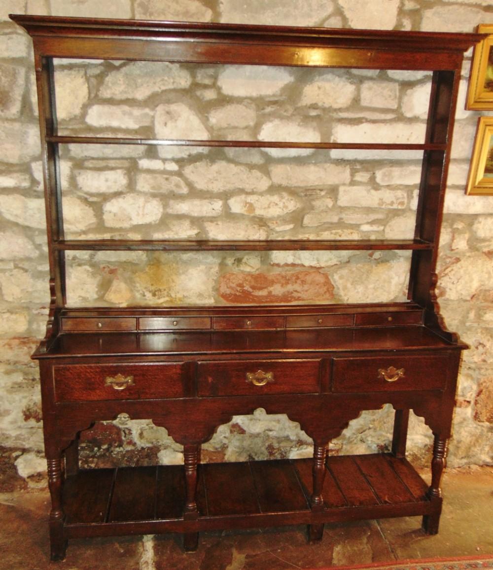 georgian sussex oak dresser with rack circa 1790