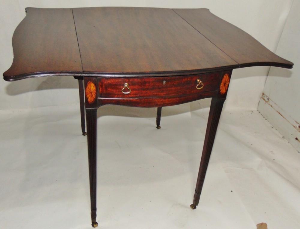 hepplewhite mahogany butterfly pembroke table circa 1780