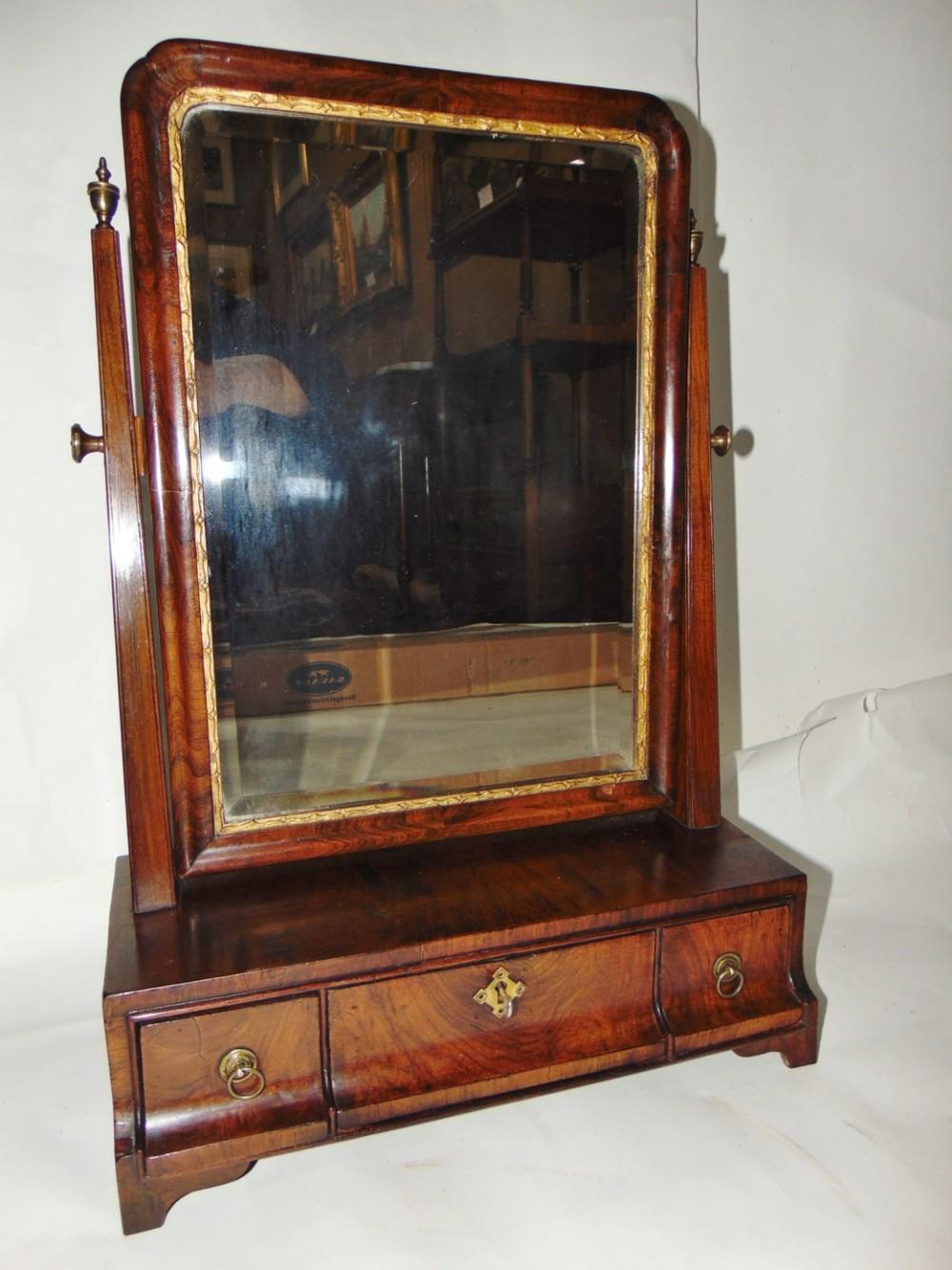 georgian walnut toilet mirror circa 1750