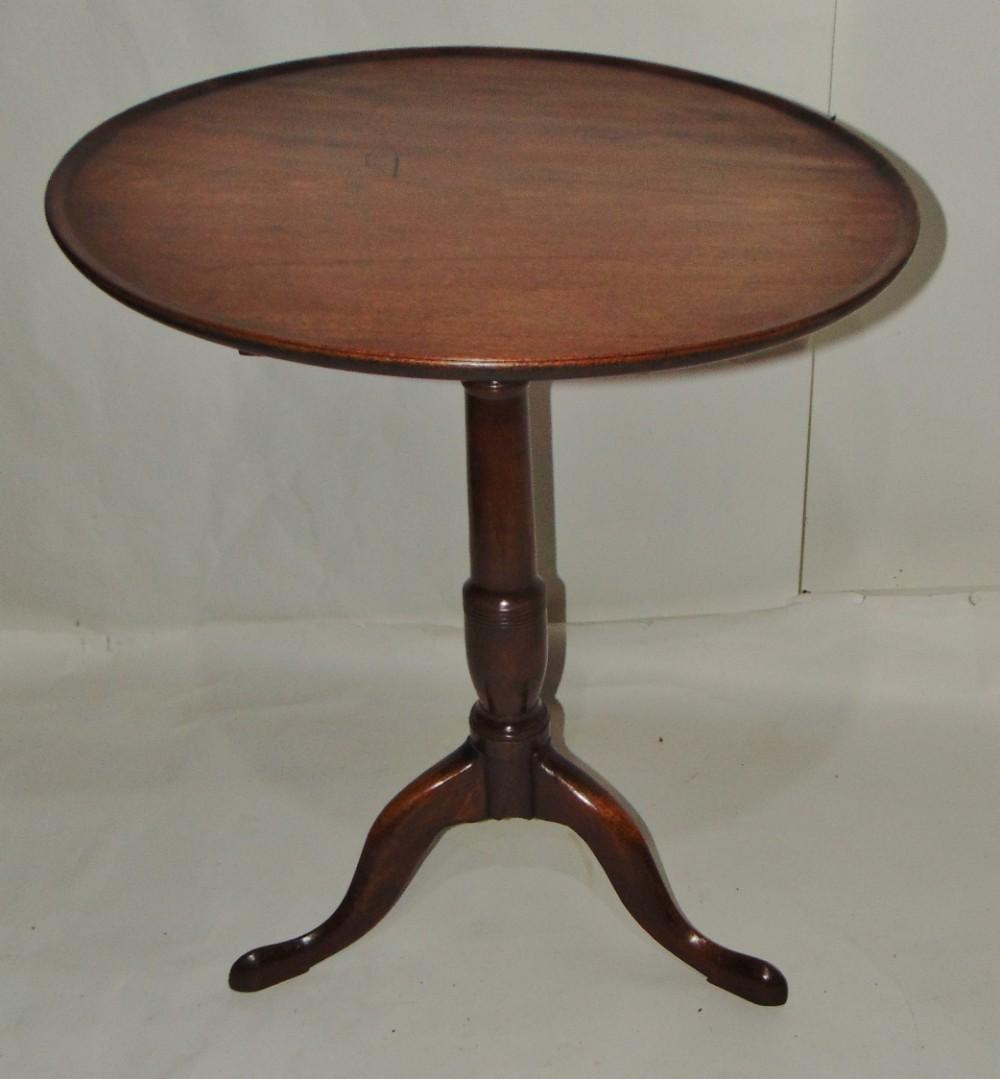 georgian mahogany dish top tripod table circa 1770