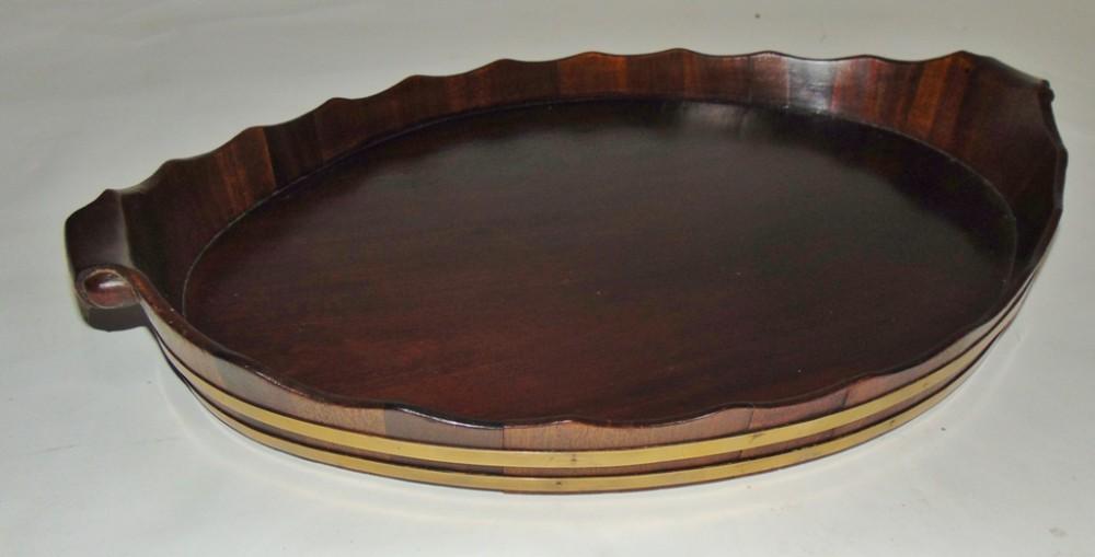 dutch oval mahogany tray circa 1830