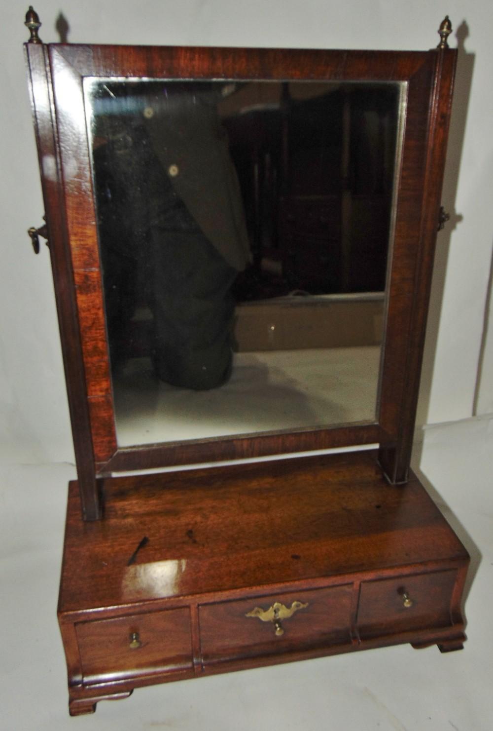 small georgian mahogany toilet mirror circa 1775