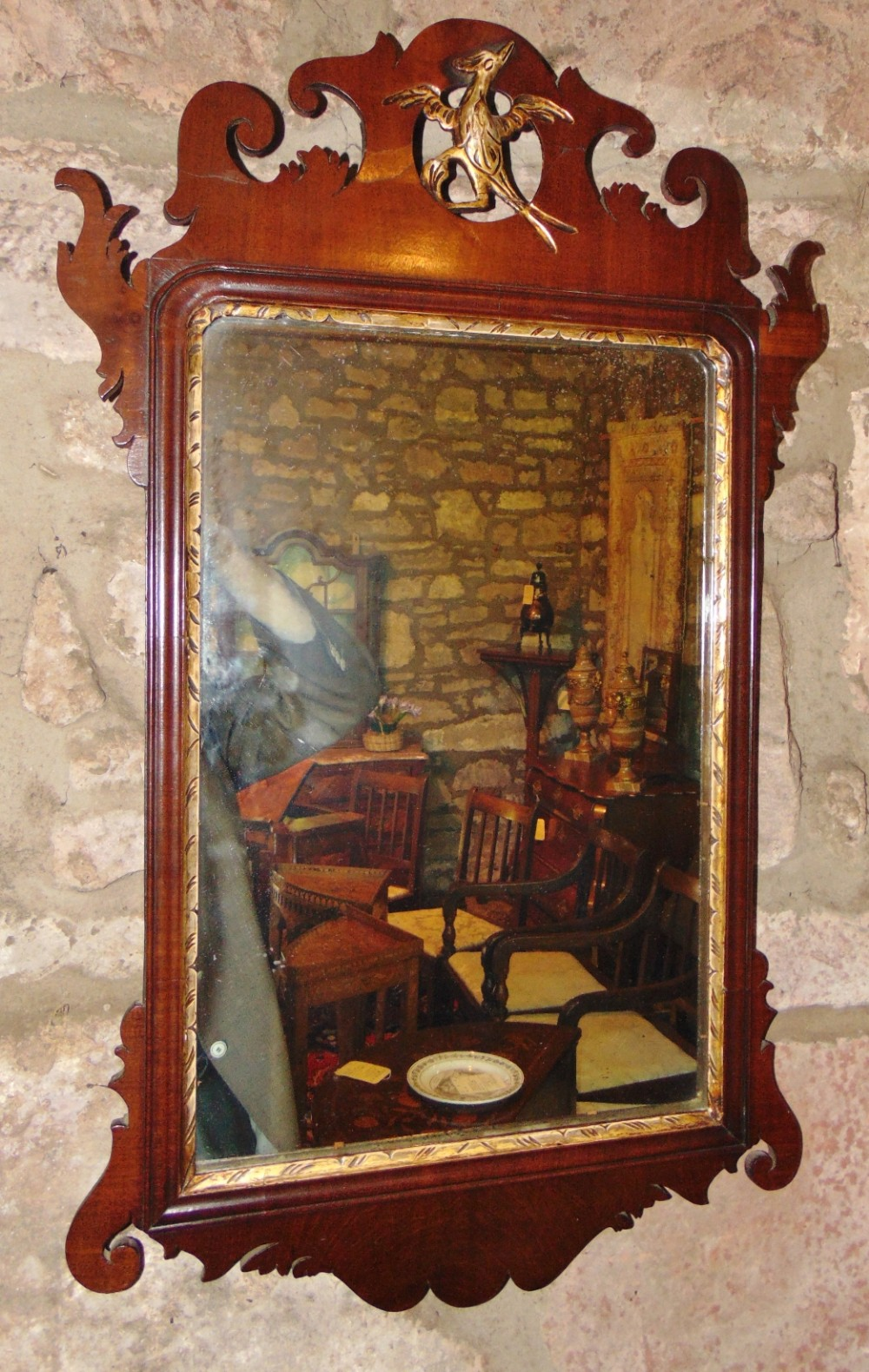 georgian mahogany vauxhall mirror circa 1770