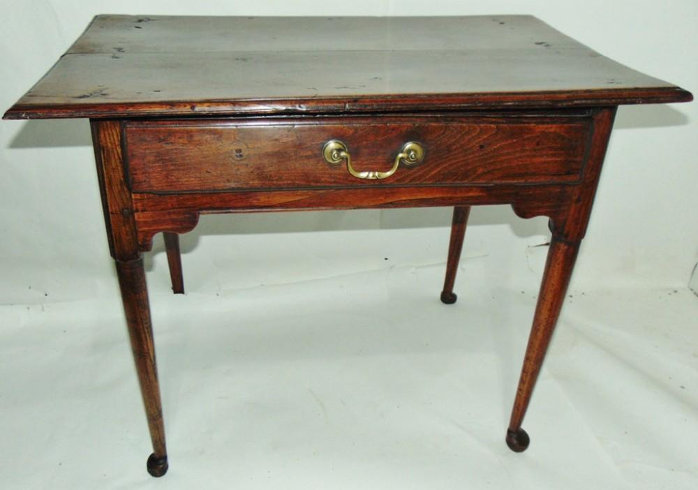 georgian elm pad foot side table circa 1760