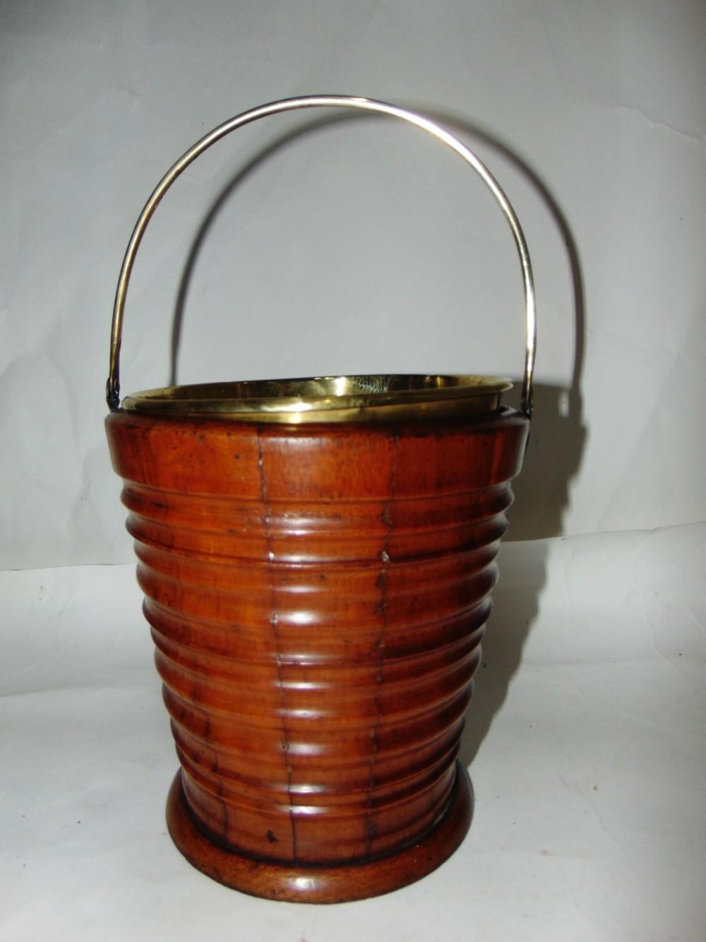 small coopered mahogany bucket jardiniere circa 1820
