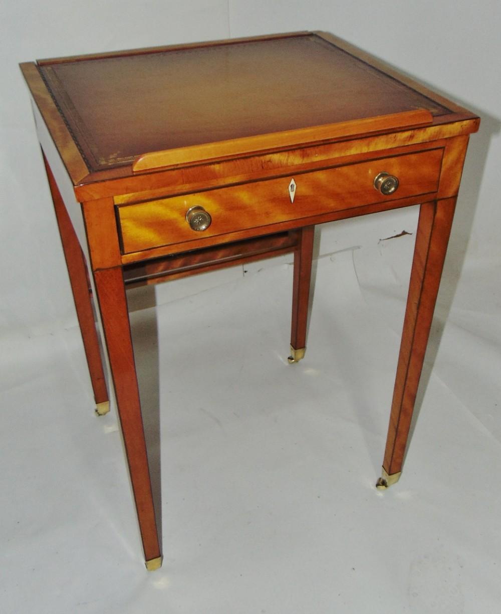 georgian satinwood ladies writing table circa 1800