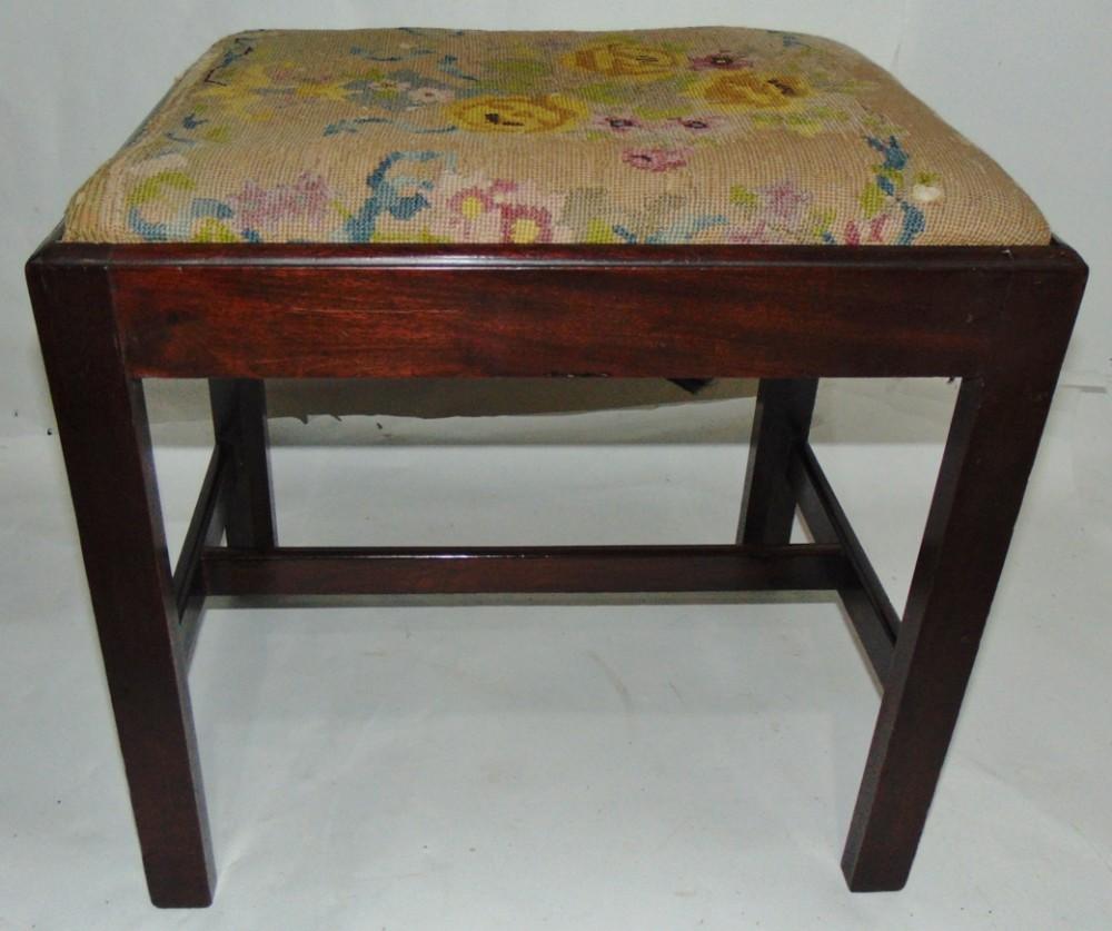georgian mahogany stool circa 1770