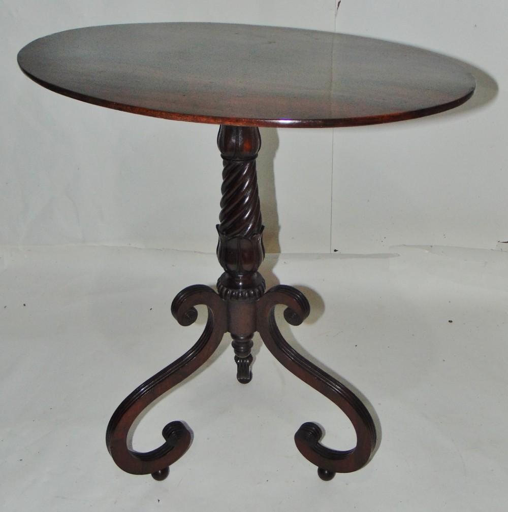 regency mahogany tripod table circa 1815