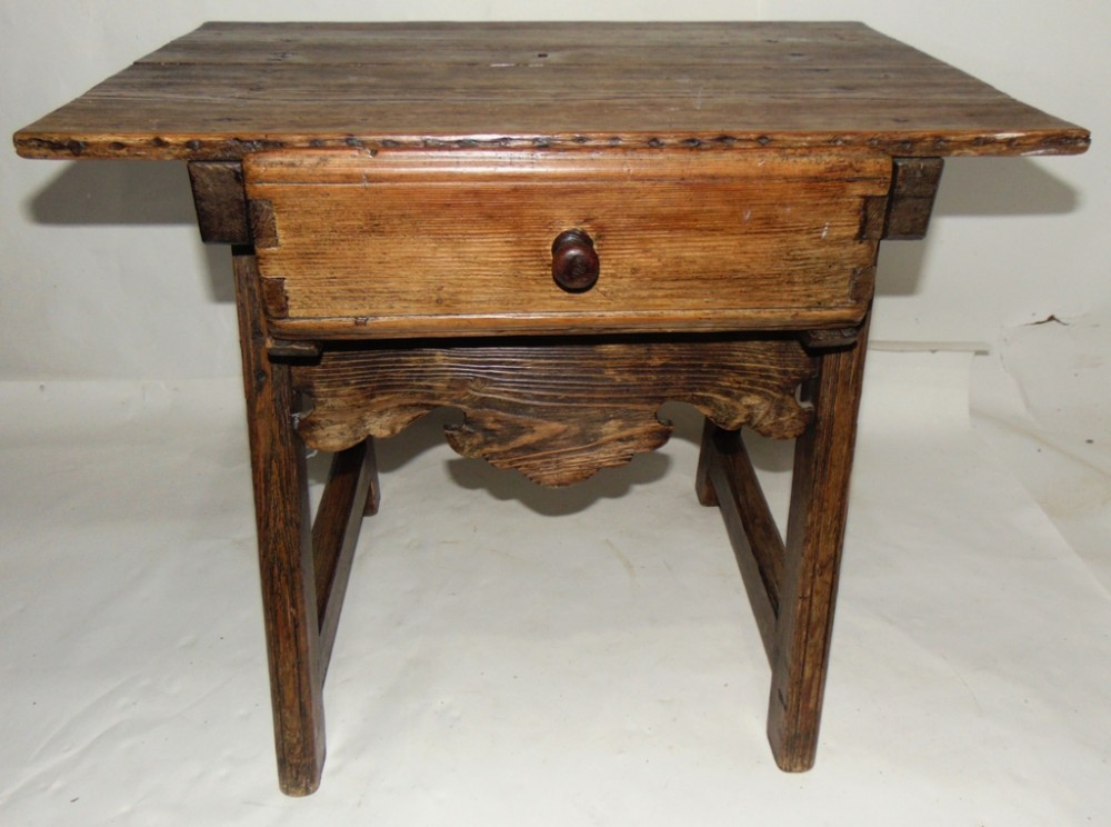 spanish pine low side table circa 1810