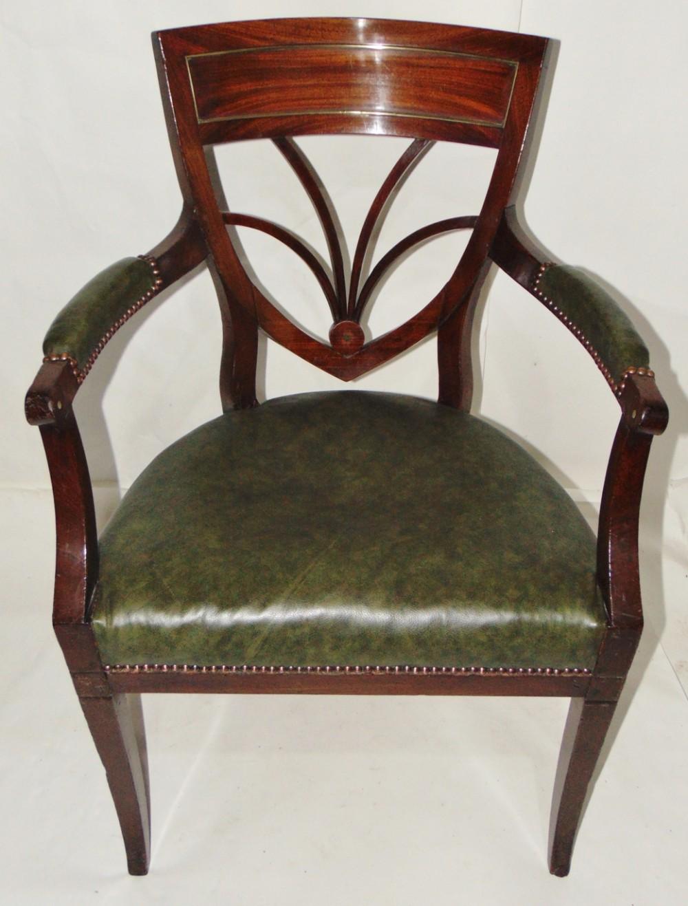 dutch mahogay elbow chair circa 1810