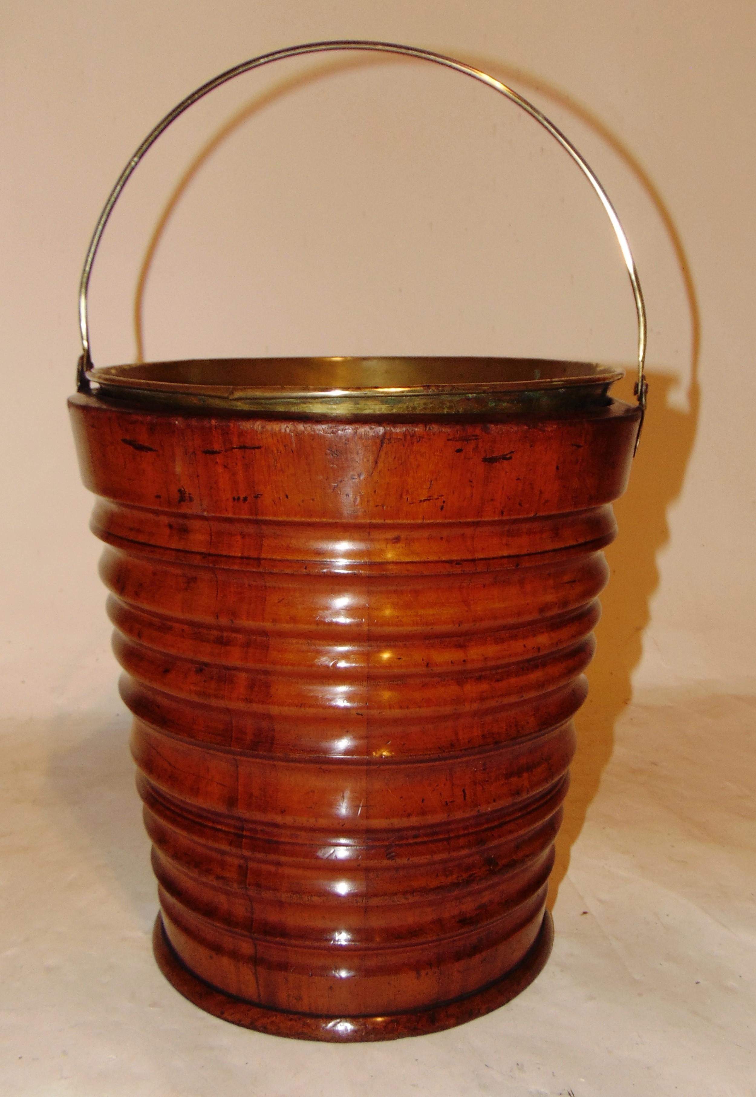 18th century dutch mahogany bucket circa 1790