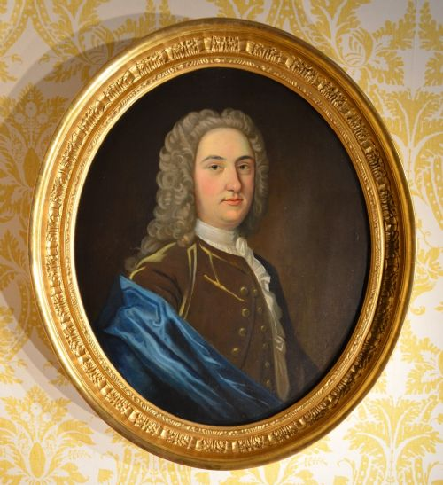 superb mid 18th century oval oil on canvas of a gentleman william gape 1738