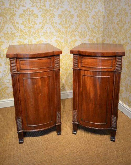 pair of early 19th century regency bedside cabinets