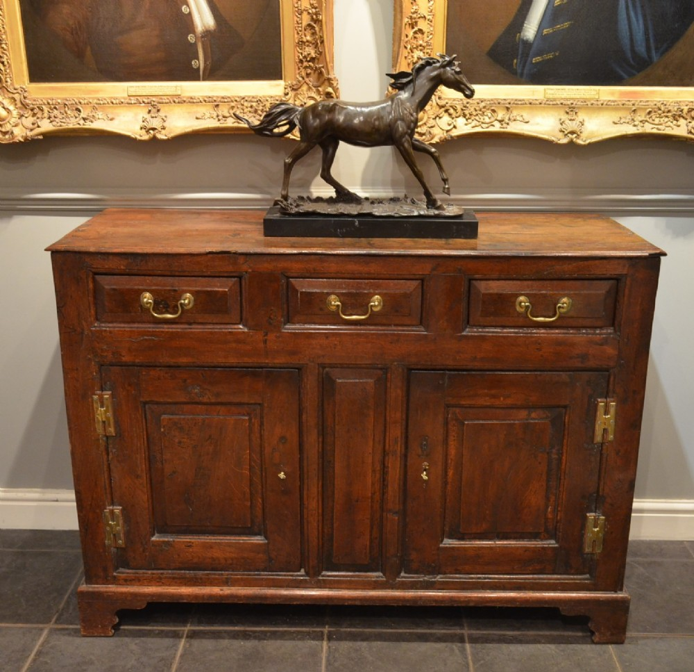 small georgian oak cupboard base dresser in country house condition
