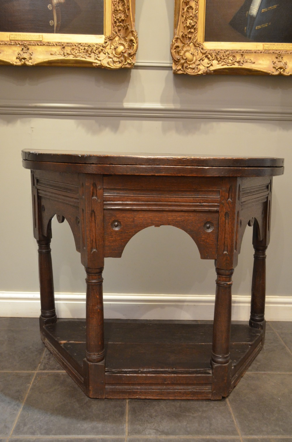 oak 17th century credence table or side table