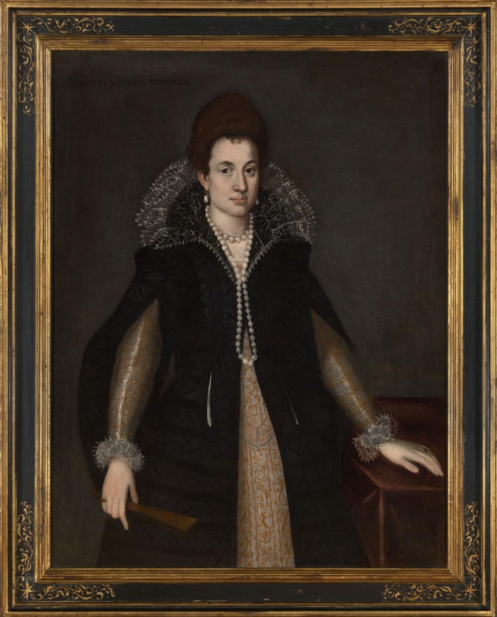 rare portrait of eleonora orsini sforza attributed to pietro fachetti 16051610