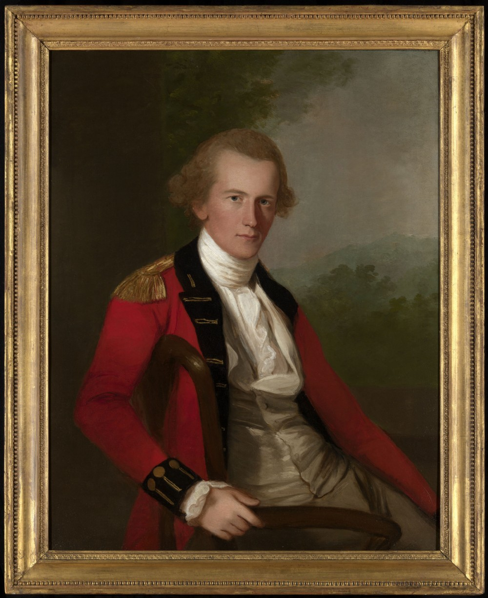fabulous portrait of an east india company officer attributed to thomas hickey 17211824