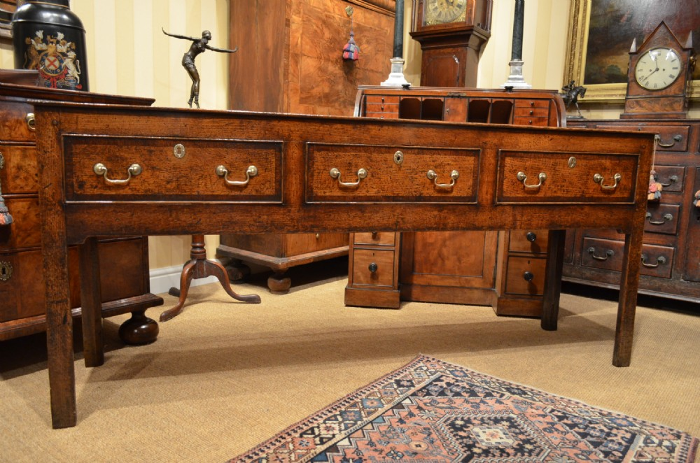 fabulous georgian oak and mahogany banded dresser base