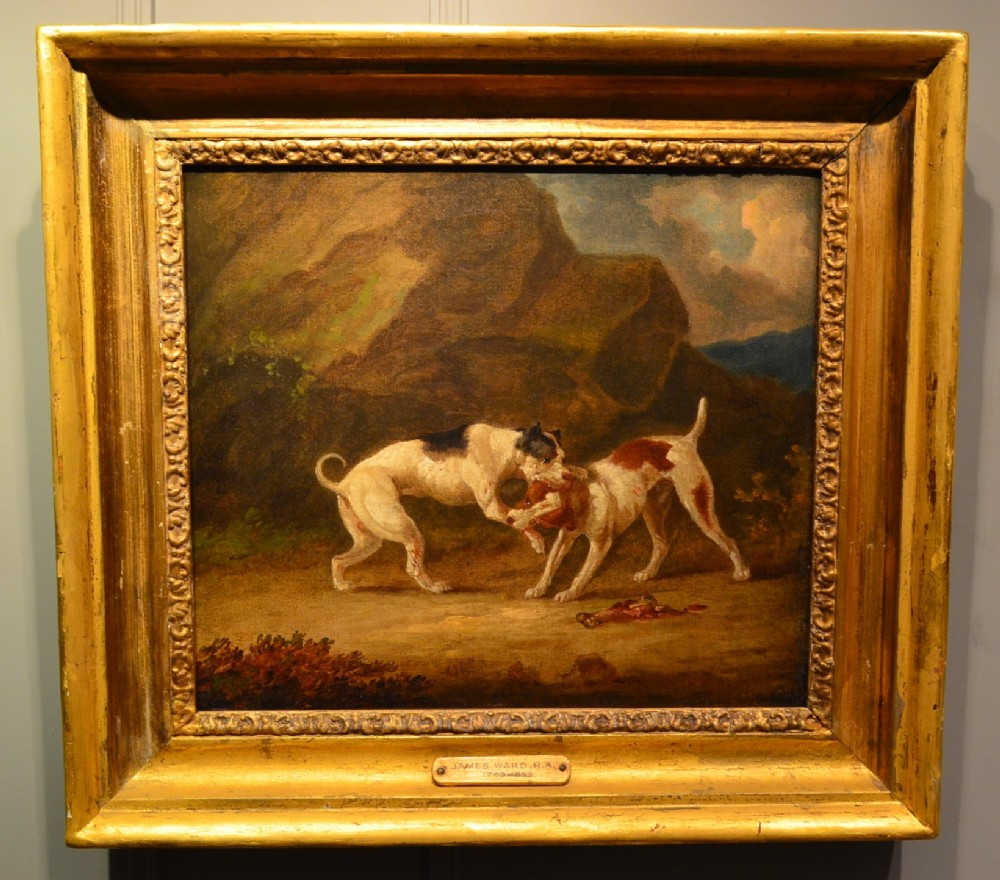 fabulous oil painting of fighting dogs by james ward ra 1769 1859