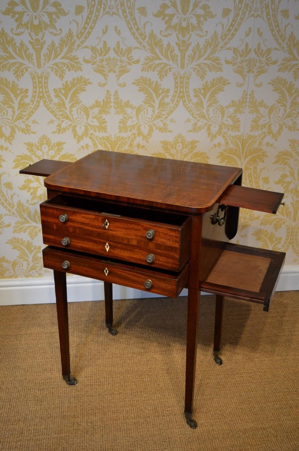 early 19th century mahogany reading writing work table