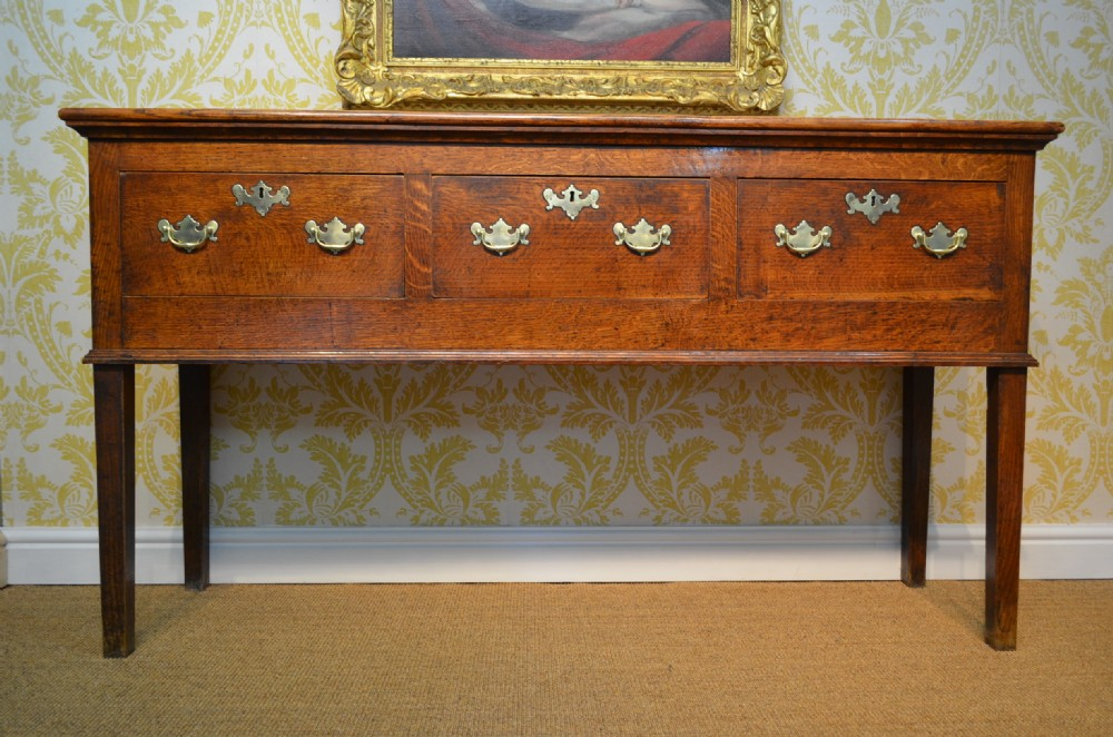 small georgian oak three drawer dresser base