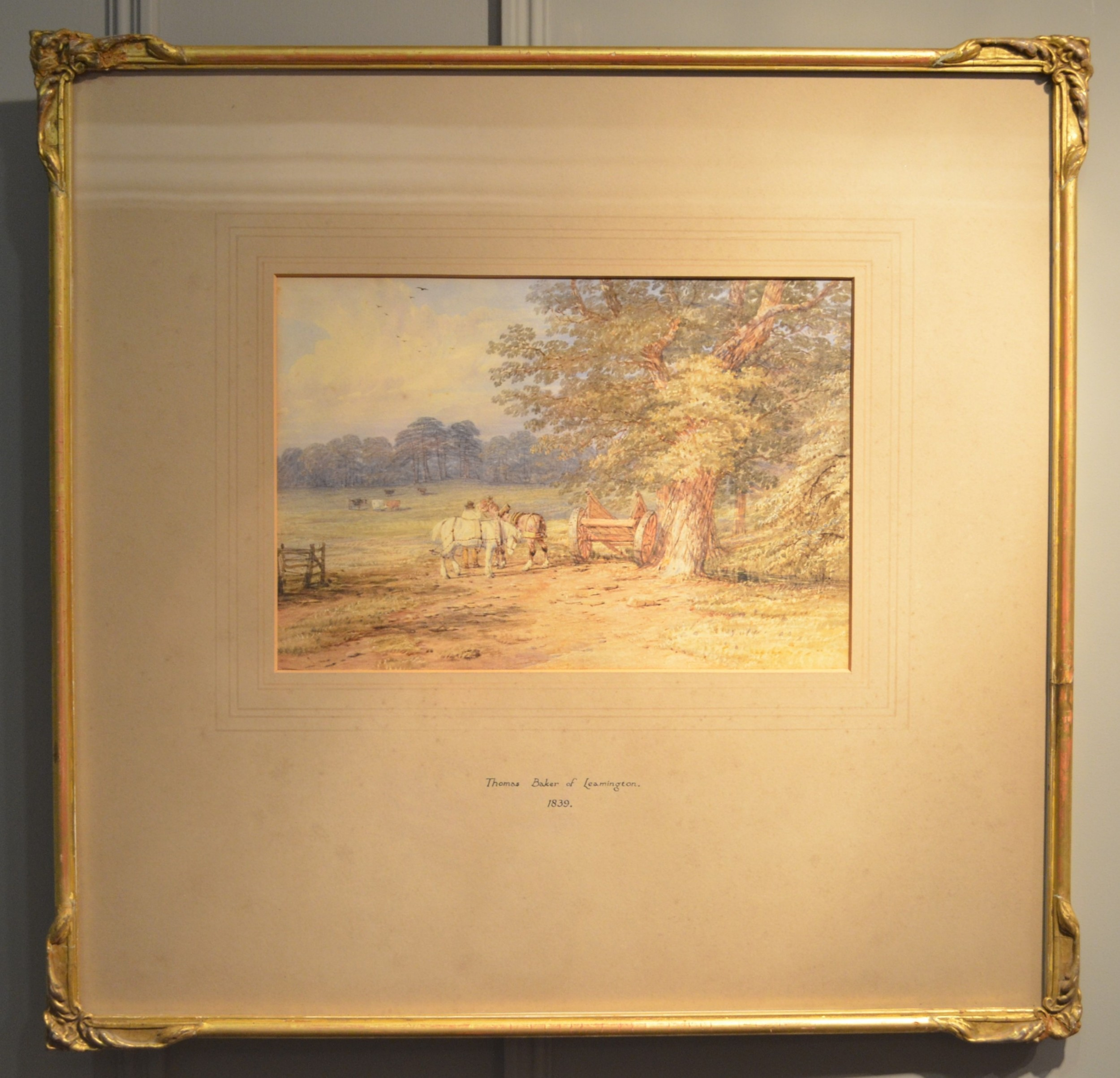beautiful 19th century watercolour by thomas baker of leamington 1809 1869 dated 1839