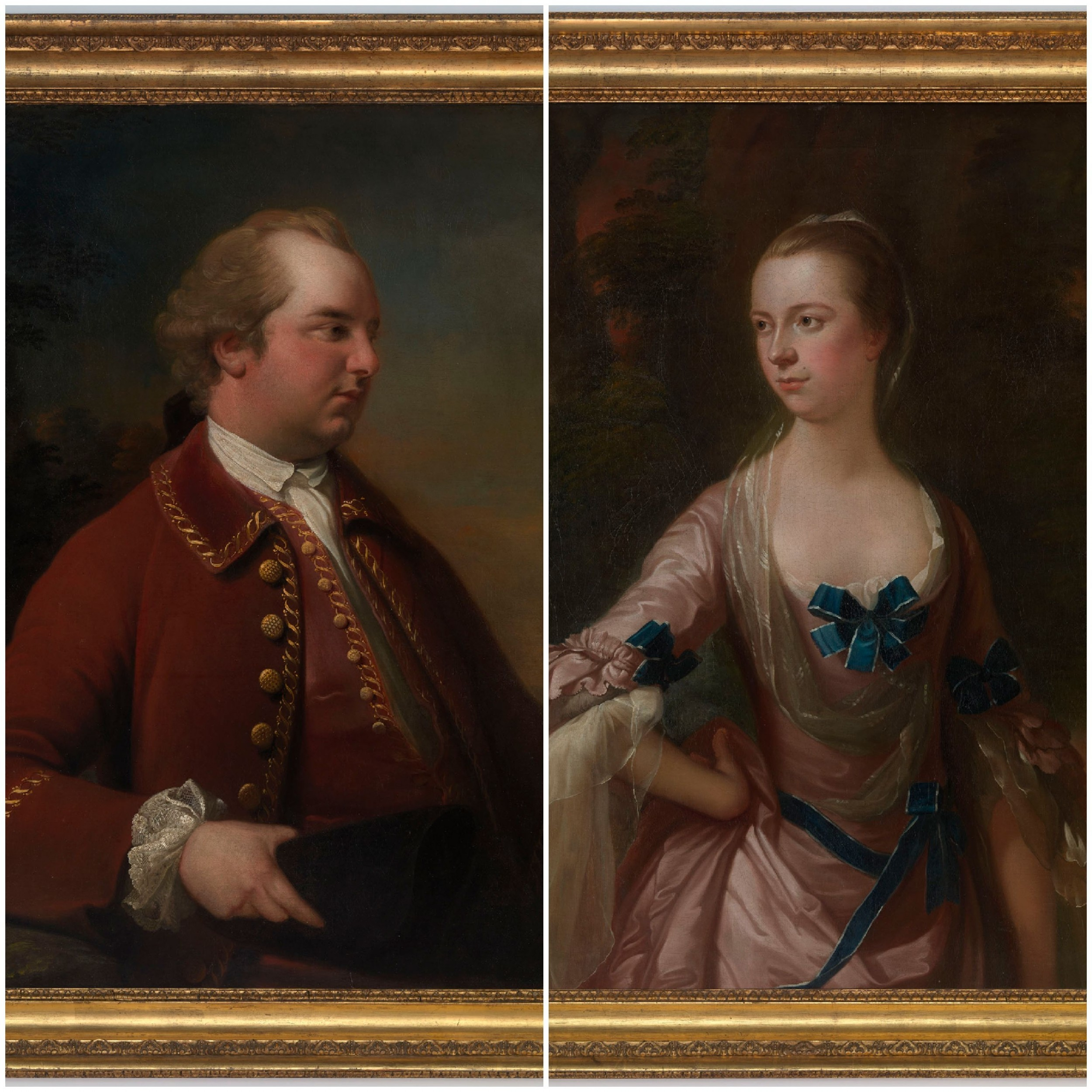 fabulous pair of portraits of john and elizabeth hartley of whitehaven cumbria c177080