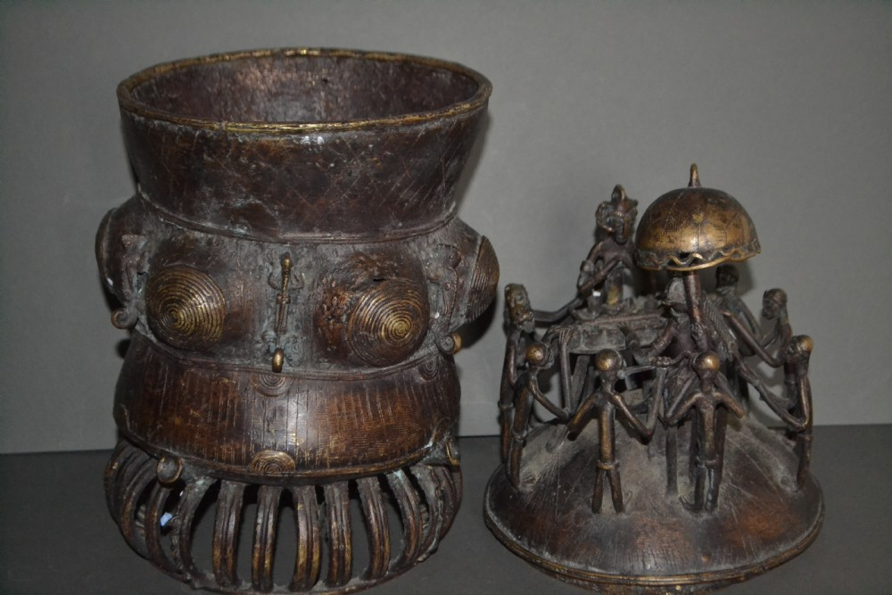 huge african ashanti tribal bronze gold potc1920cast in traditional lost wax method