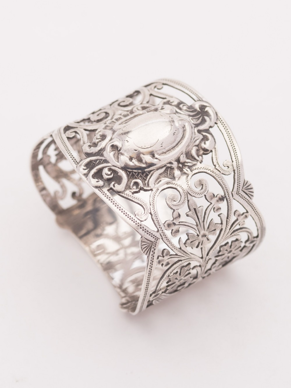 beautiful edwardian silver napkin ring sheffield 1907