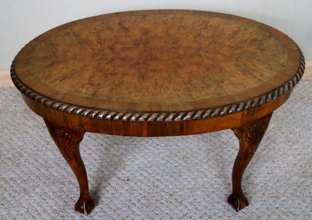 Small Oval Walnut Coffee Table 260489