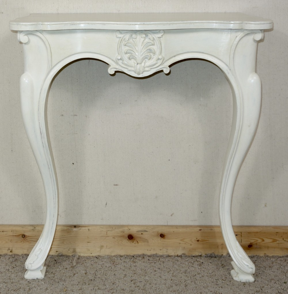 small victorian painted console table