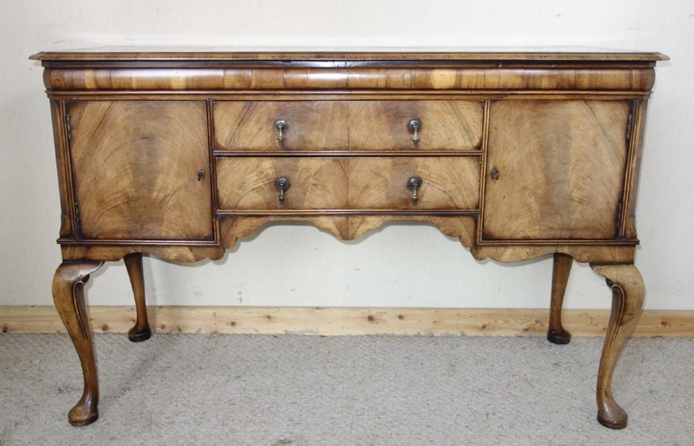 distressed walnut sideboard