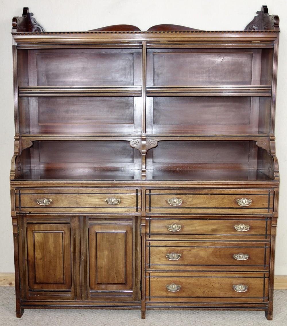 aesthetic movement mahogany bookcase