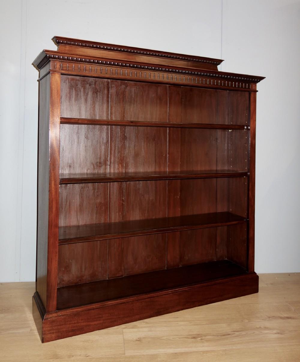 edwardian open mahogany bookcase
