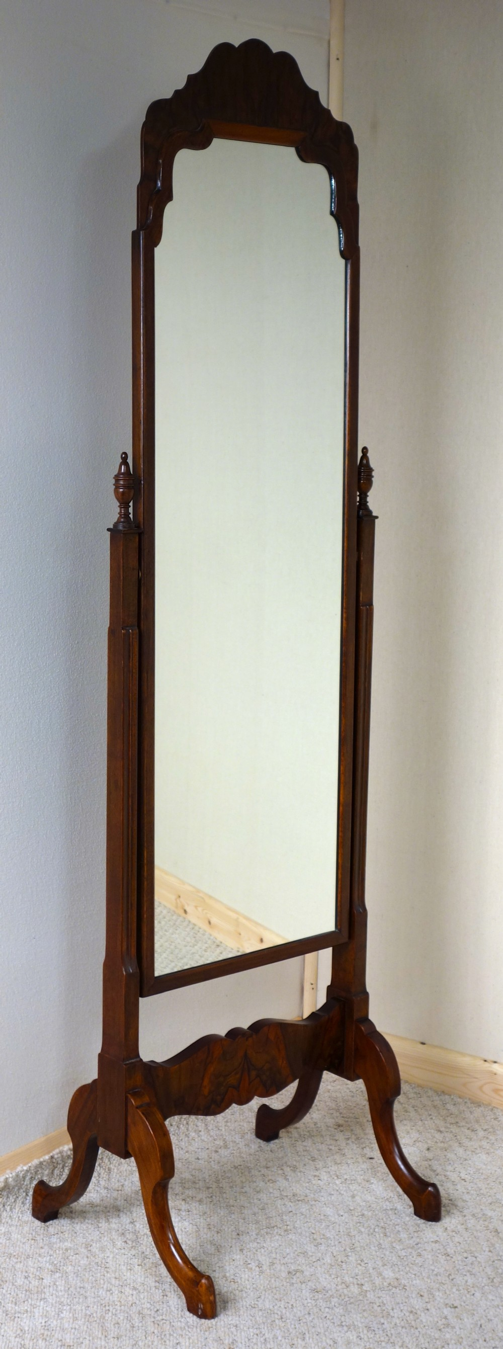 Walnut cheval mirror 244349 for Cheval mirror