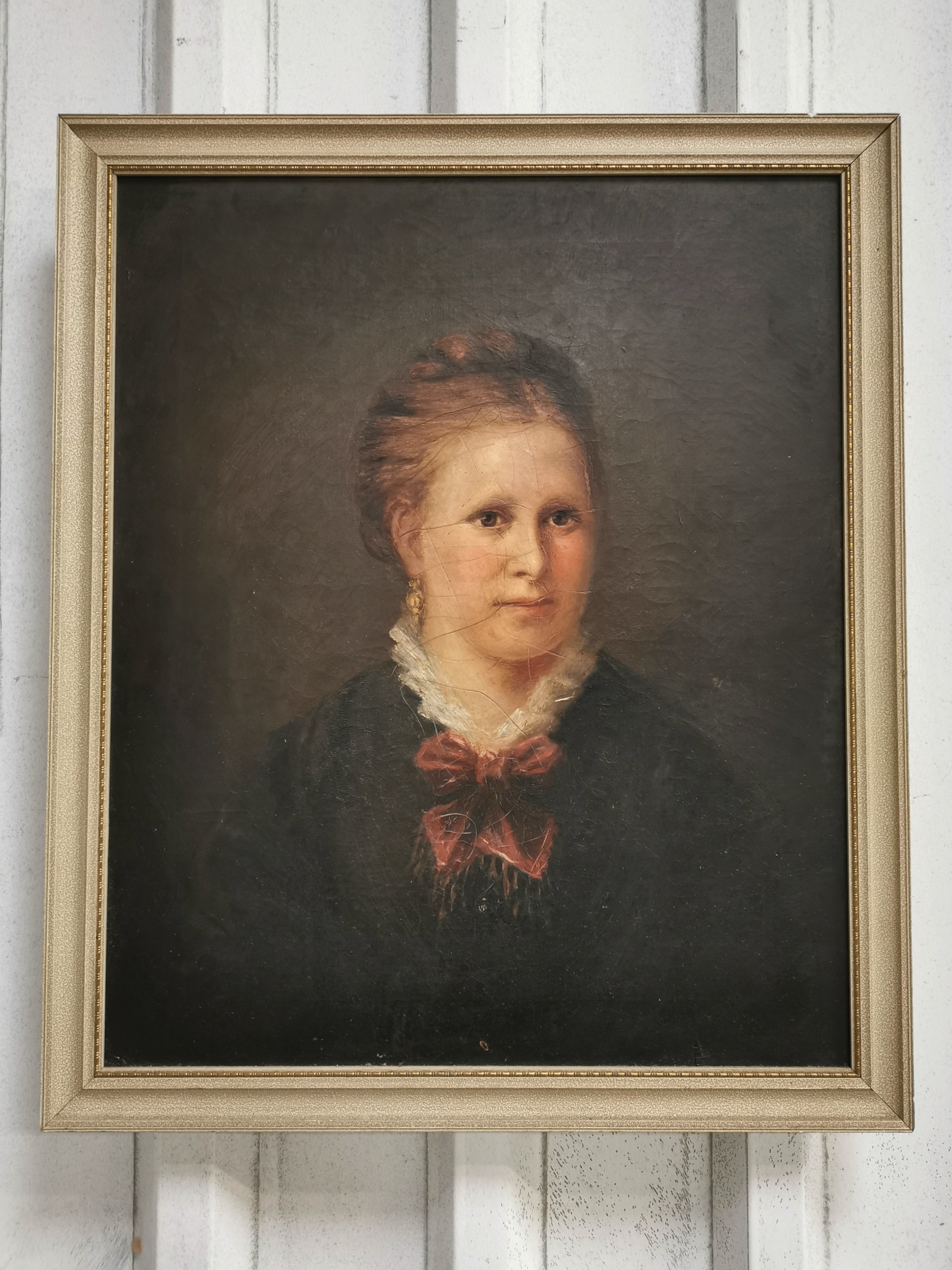 antique victorian scottish school oil portrait painting