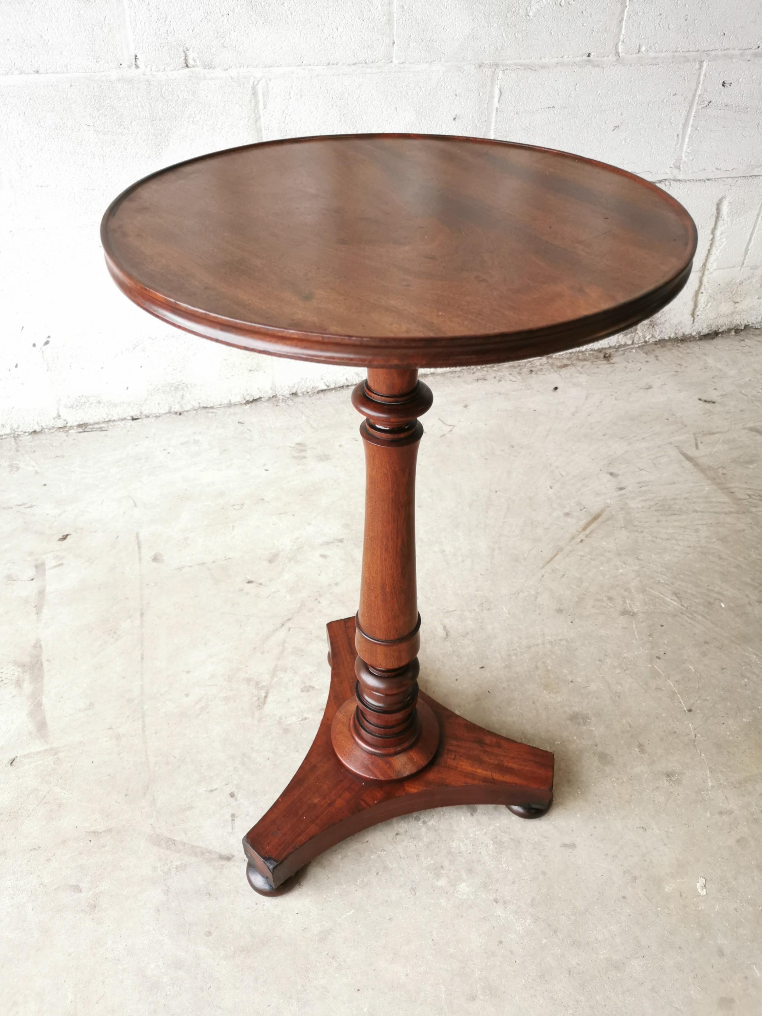 antique william iv mahogany wine side table c1840