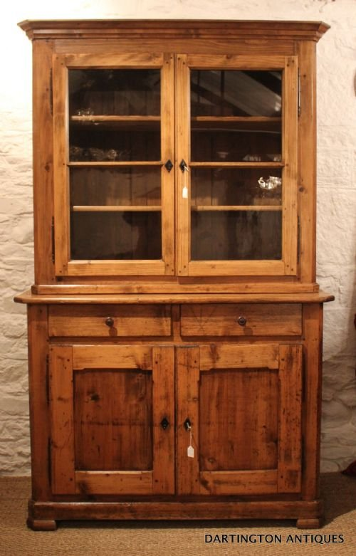 antique farmhouse pine bookcase