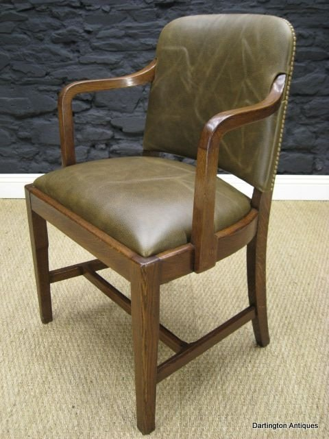 1930 39 S Oak Leather Office Chair 78018