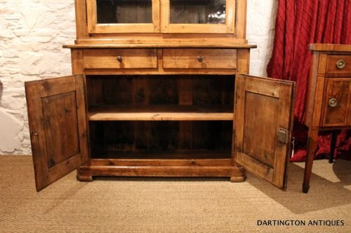 antique farmhouse pine bookcase - photo angle #4