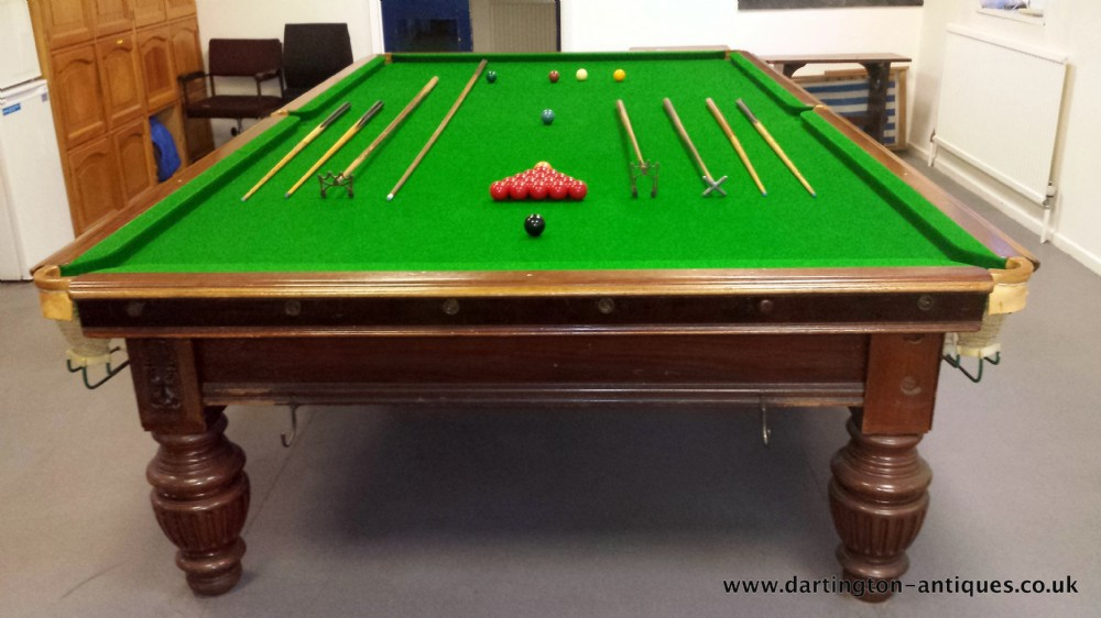 George Wright And Co. Full Size Antique Snooker Table 12ft X 6ft ...